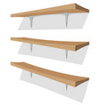 wood shelf on the wall vector image vector image