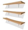 wood shelf on the wall vector image vector image