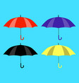 set of umbrellas icons yellow black red and vector image