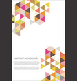 abstract geometric design background template vector image vector image