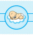baborn sleep on cloud vector image vector image