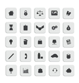 black business web icons set vector image vector image