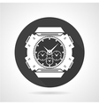 Black round icon for sport wrist watch vector image vector image
