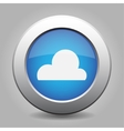 blue metal button with weather - cloudy vector image vector image