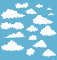 cartoon cloud set vector image
