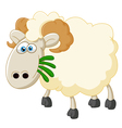 Cartoon sheep eating grass vector image vector image