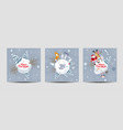 christmas cards set - christmas planets vector image