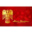 Christmas red background with Angel vector image vector image