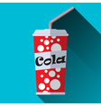 Cup of cola vector image vector image