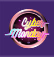 cyber monday promo in soft pink vector image vector image