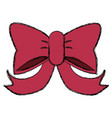 decorative bow isolated vector image
