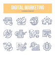 digital marketing doodle icons vector image vector image