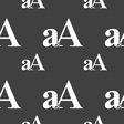 Enlarge font aA icon sign Seamless pattern on a vector image