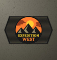 expedition badge vector image