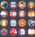 Flat business icon set office items vector image vector image