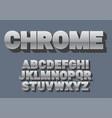 font alphabet hrome style sanserif font vector image vector image