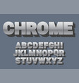 font alphabet hrome style sanserif font with vector image vector image