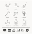 football ice hockey and baseball icons vector image vector image