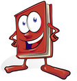 fun book cartoon vector image vector image