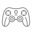 game controller thin line icon game and play vector image vector image