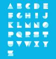 geometric paper alphabet set vector image vector image