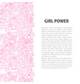 girl power line pattern concept vector image vector image