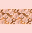 gold abstract rose flowers seamless pattern vector image vector image