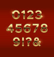 golden numbers gold 3d figures stylish vector image vector image