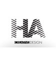 ha h a lines letter design with creative elegant vector image vector image