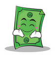 happy face dollar character cartoon style vector image vector image