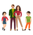 happy family in casual style vector image vector image