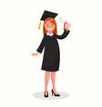 happy girl graduating vector image vector image