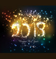 happy new year 2018 written with sparkle firework vector image vector image