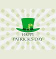 happy st patricks day leprechaun hat vector image vector image