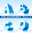 ice alphabet 01 vector image vector image