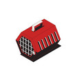 isometric pet carrier icon vector image vector image