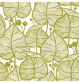 leaves pattern seampless yellow leaf pattern vector image