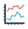 line diagram flat icon vector image vector image