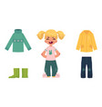 little girl child kid and her autumn clothes vector image vector image