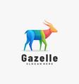 logo gazelle gradient colorful style vector image vector image