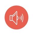 Loudspeaker thin line icon vector image vector image