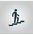 Man on Stairs going up symbol vector image