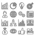 marketing and ceo icons set line style vector image