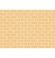 Masonry of yellow brick vector image vector image