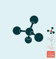 molecule icon atom or ion symbol vector image
