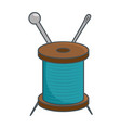 needle and wool vector image vector image