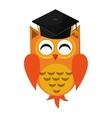 owl cartoon with graduation cap icon vector image