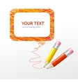 Pencil speech bubble vector image vector image