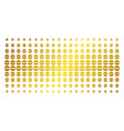 pharmacy tablet golden halftone array vector image vector image
