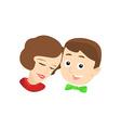 Portrait of a happy couple vector image vector image